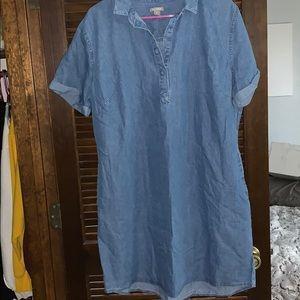 Denim dress with pockets size xl